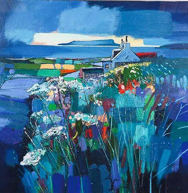 * PAM CARTER DA Field Patterns oil on canvas,