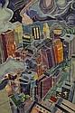 ALINE FELDMAN (USA) Night Ride white line etching, Aline Feldman, Click for value
