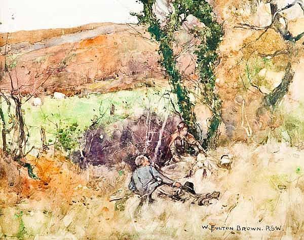 WILLIAM FULTON BROWN RSW (Scottish 1873 -- 1905)