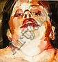 *JENNY SAVILLE RA Self Portrait oil on paper laid