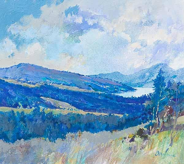 * PETER BOURNE RSW Aberfeldy landscape with