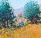 * GEORGE DEVLIN RSW RGI Rural Italy oil on canvas,, George Devlin, Click for value