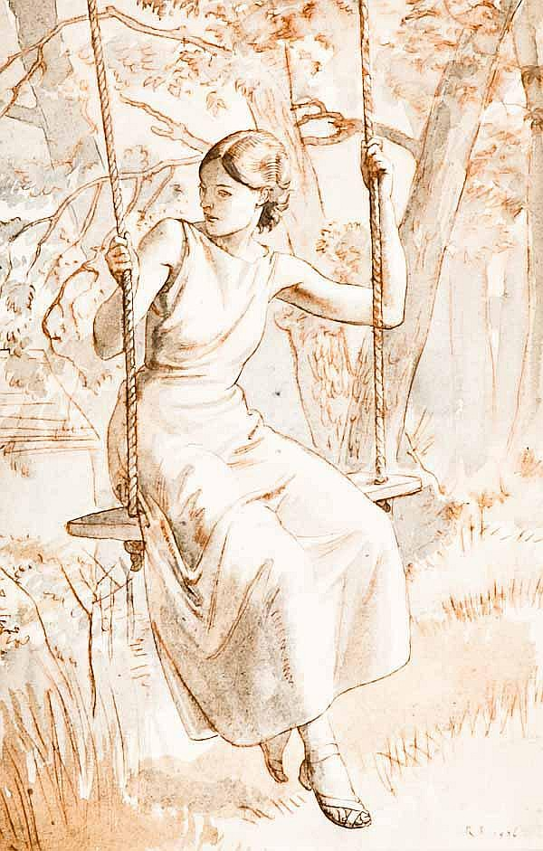 RANDOLPH SCHWABE (1885-1948) Girl on a Swing