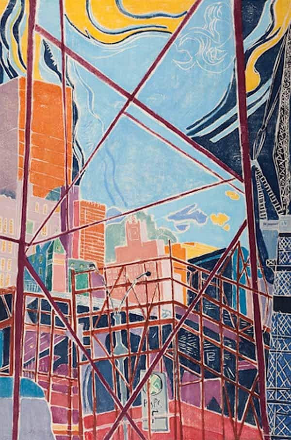 * ALINE FELDMAN (American b 1928) Scaffold Sky