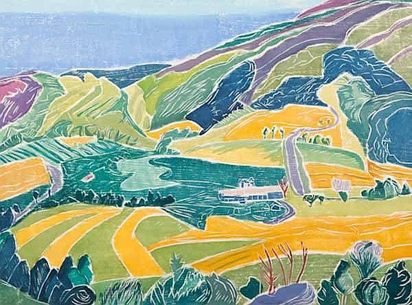 * ALINE FELDMAN (American b 1928) Hills to Sky