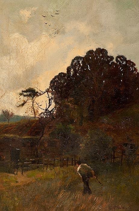 WILLIAM MACBRIDE (BRITISH 1856 - 1913)   -  AT SUNRISE