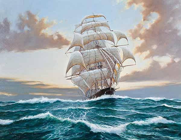 RODNEY CHARMAN (b. 1944 - ) Flying Cloud oil on