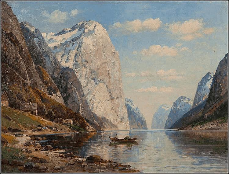 KARL KAUFMANN (GERMAN 1843-1902) DRONDHIEM FJORD