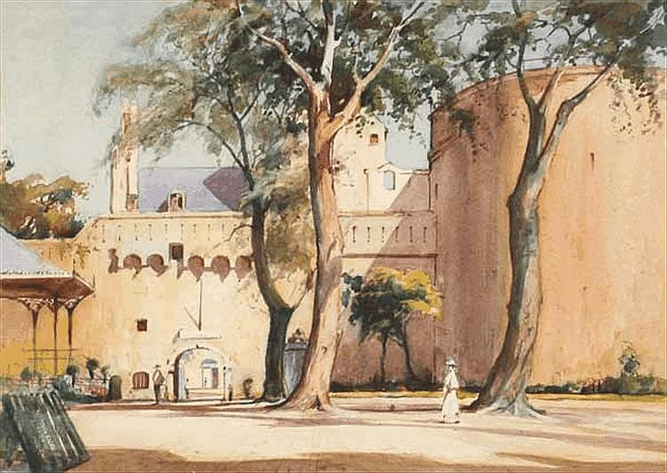 A. STEWART AFTERNOON PRAYER watercolour on paper,