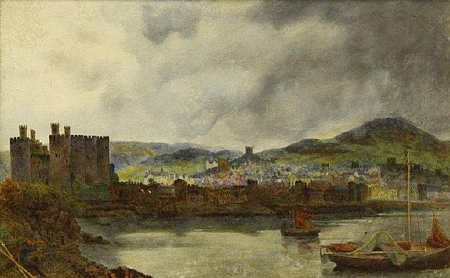 WILLIAM DAVIS (Irish, 1812-1873) Caernarvon Castle