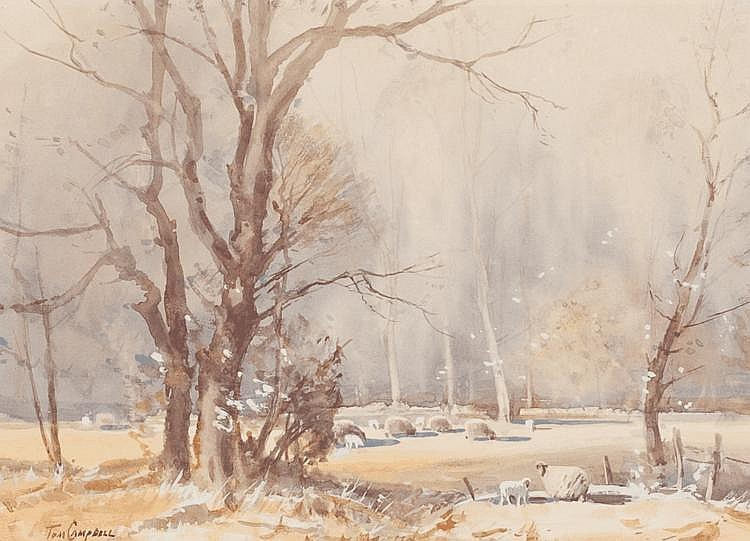 * TOM CAMPBELL (1865 - 1943) - FIRST FLAKES OF SNOW