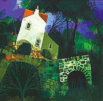 George Birrell Little Bridge oil on canvas 30in x