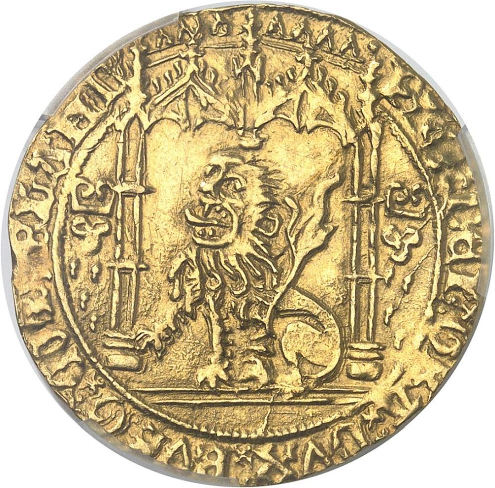BELGIQUE Brabant (duché de), Philippe le Bon (1434-1467). Lion d'or ND (145