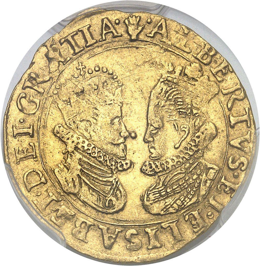 BELGIQUE Brabant (duché de), Albert et Isabelle (1598-1621). Double ducat N