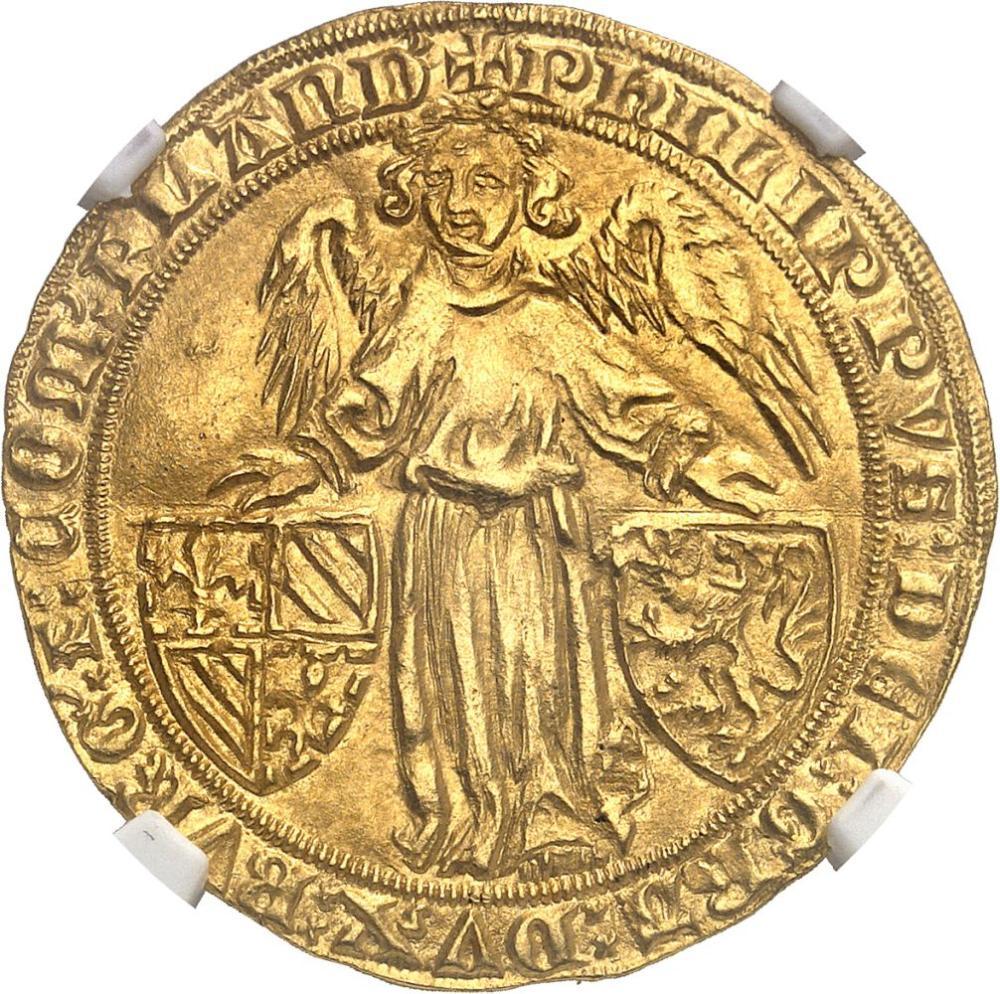 BELGIQUE Flandres (comté de), Philippe le Hardi (1384-1404). Ange d'or ND (
