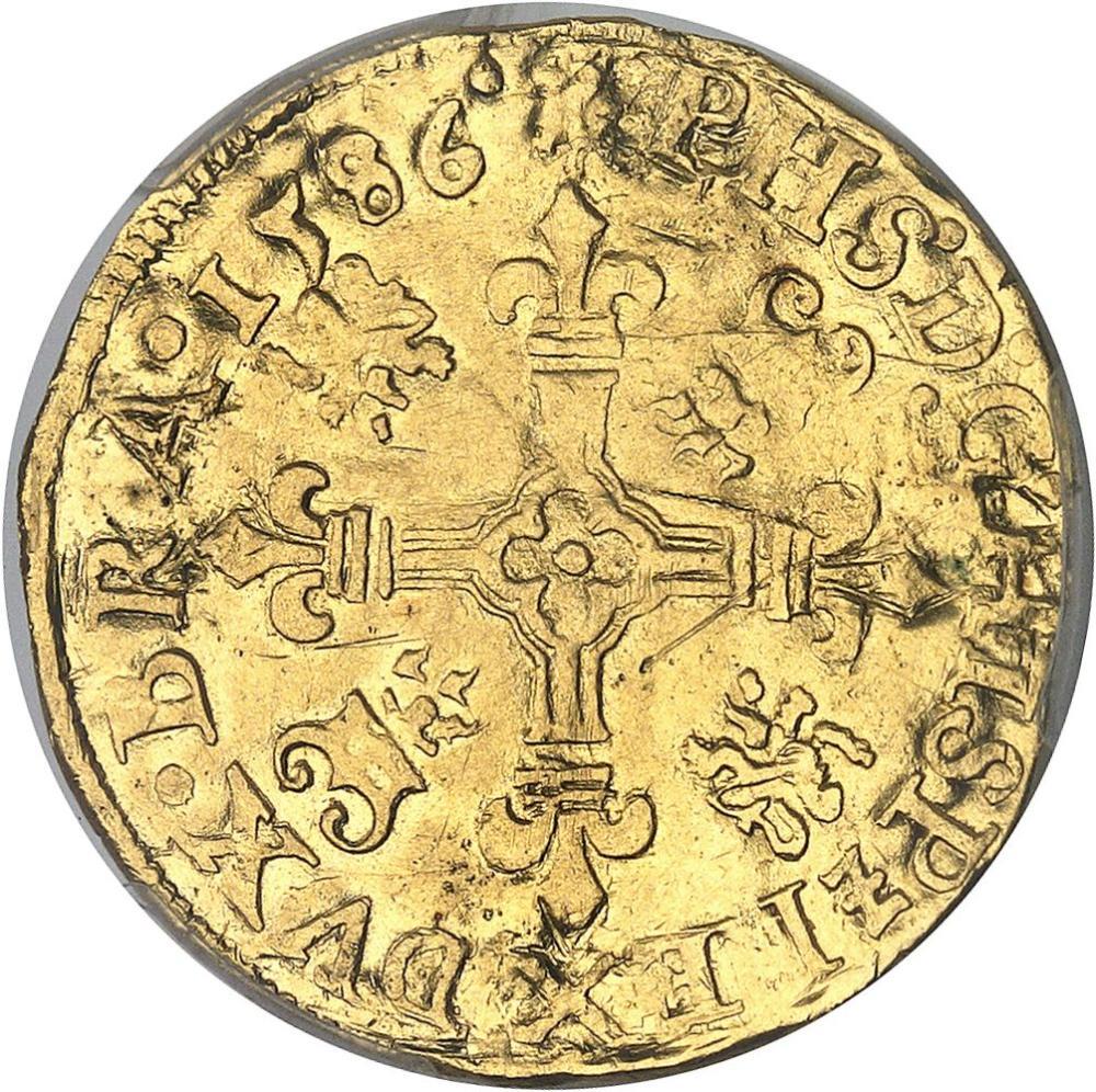 BELGIQUE Brabant (duché de), Philippe II (1555-1598). Couronne d'or 1586, A