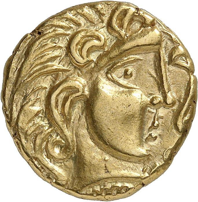 GAULE Parisii (Ier siècle av. J.C). Statère d'or, classe II.