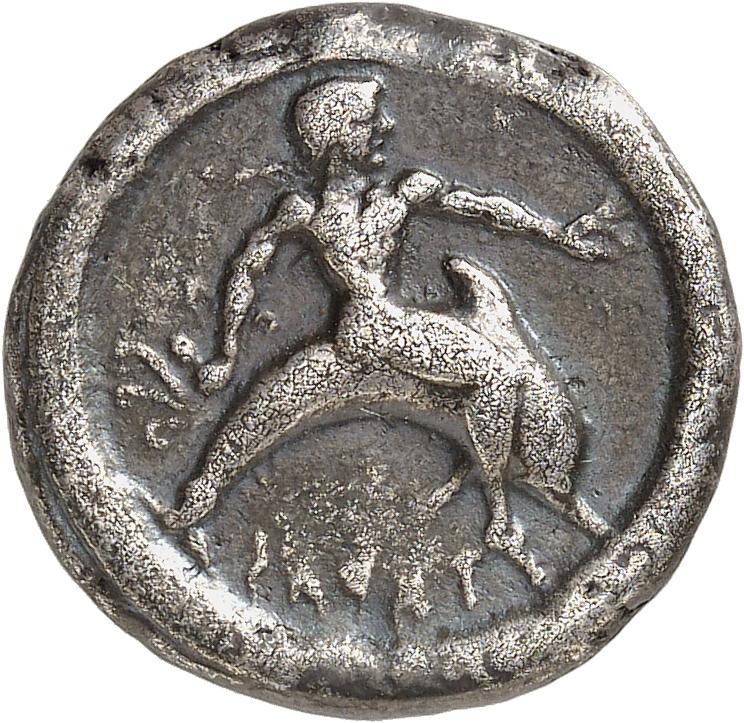 GRÈCE ANTIQUE Calabre, Tarente (500-473 av. J.C). Statère.