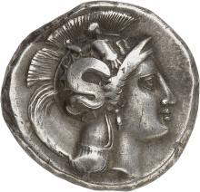 GRÈCE ANTIQUE Lucanie, Thurium (400-350 av. J.C). Distatère.