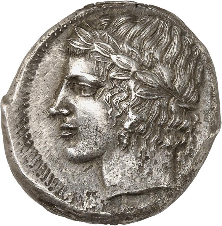 GRÈCE ANTIQUE Sicile, Leontini (430-425 av. J.C). Tétradrachme.