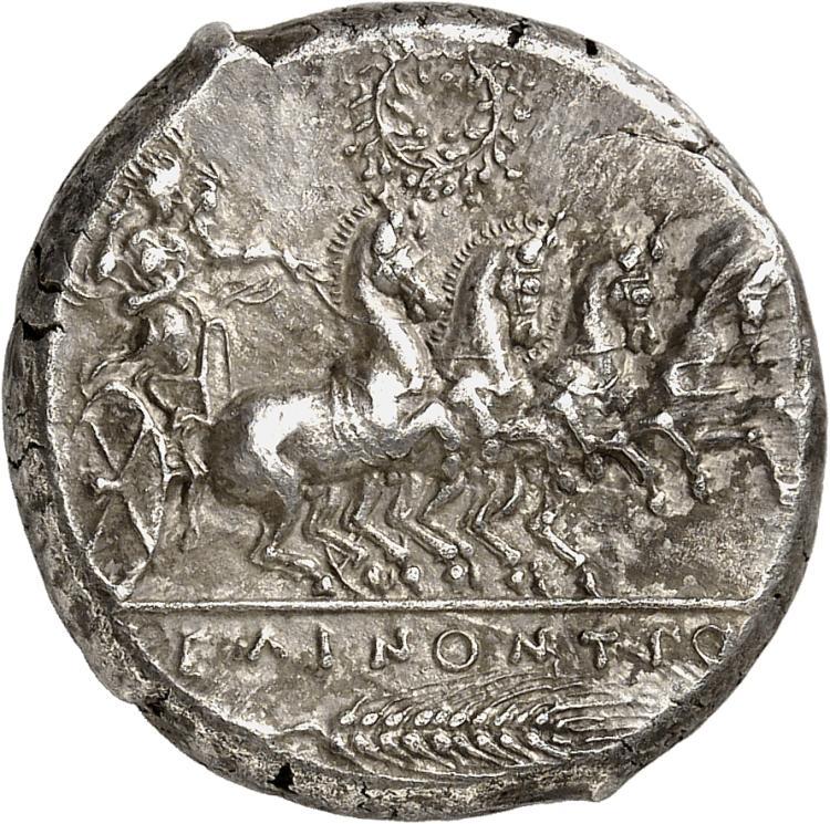 GRÈCE ANTIQUE Sicile, Sélinonte (455-409 av. J.C). Tétradrachme.