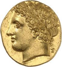 GRÈCE ANTIQUE Sicile, Syracuse (288-279 av. J.C). Décadrachme de 60 litrae d'or.