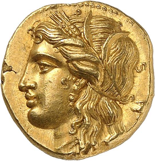 GRÈCE ANTIQUE Sicile, Syracuse, Hiéron II (274-216 av. J.C). Décadrachme de 60 litrae d'or.