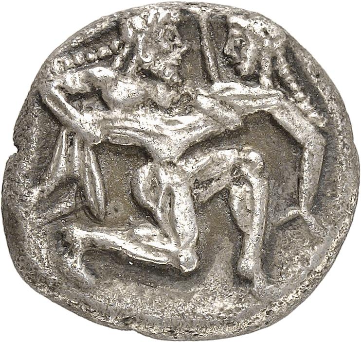 GRÈCE ANTIQUE Thrace, Thasos (550-463 av. J.C). Statère de style archaïque.
