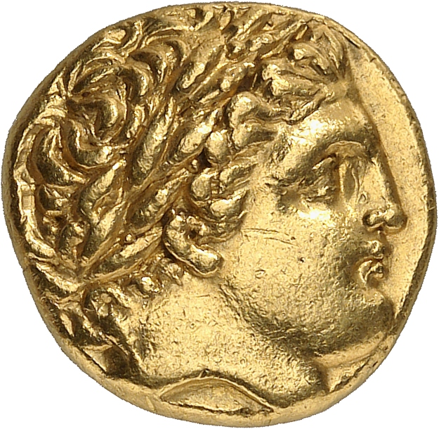 GRÈCE ANTIQUE Royaume de Macédoine, Philippe II (359-336 av. J.C). Statère d'or posthume 323-319 av J.C, Lampsaque.