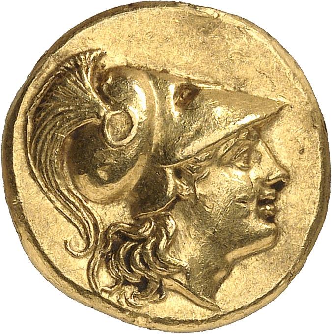 GRÈCE ANTIQUE Royaume de Macédoine, Alexandre le Grand (336-323 av. J.C). Statère d'or, posthume, Callatis (250-225av. J.C).