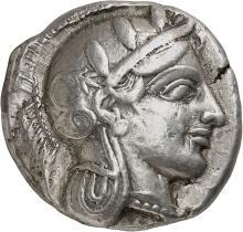 GRÈCE ANTIQUE Attique, Athènes (454-404 av. J.C). Tétradrachme.