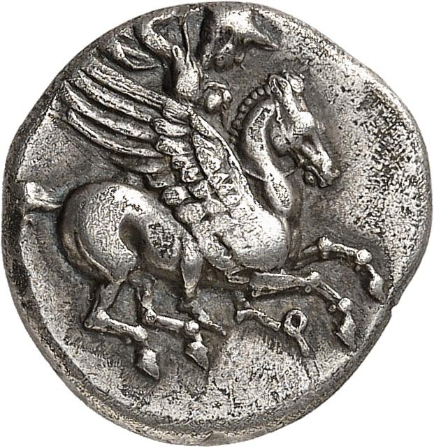 GRÈCE ANTIQUE Corinthe (375-350 av. J.C). Trihémidrachme.