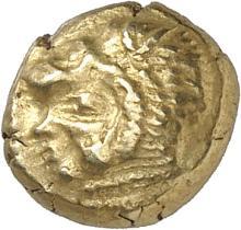 GRÈCE ANTIQUE Ionie, Erythrée. (550-500 av. J.C). Hecté d'électrum.