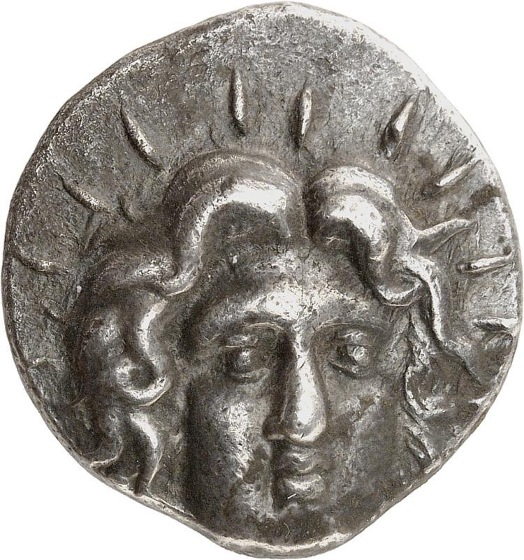 GRÈCE ANTIQUE Carie, Rhodes (205-190 av. J.C). Tétradrachme.