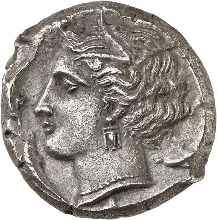 GRÈCE ANTIQUE Afrique du Nord, Carthage (310 av. J.C). Tétradrachme.