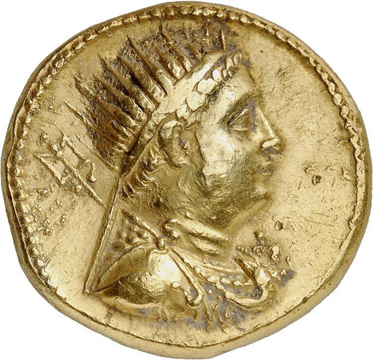 GRÈCE ANTIQUE Royaume d'Egypte, Ptolémée IV (221-204 av. J.C). Octodrachme au nom de Ptolémée III, Alexandrie.