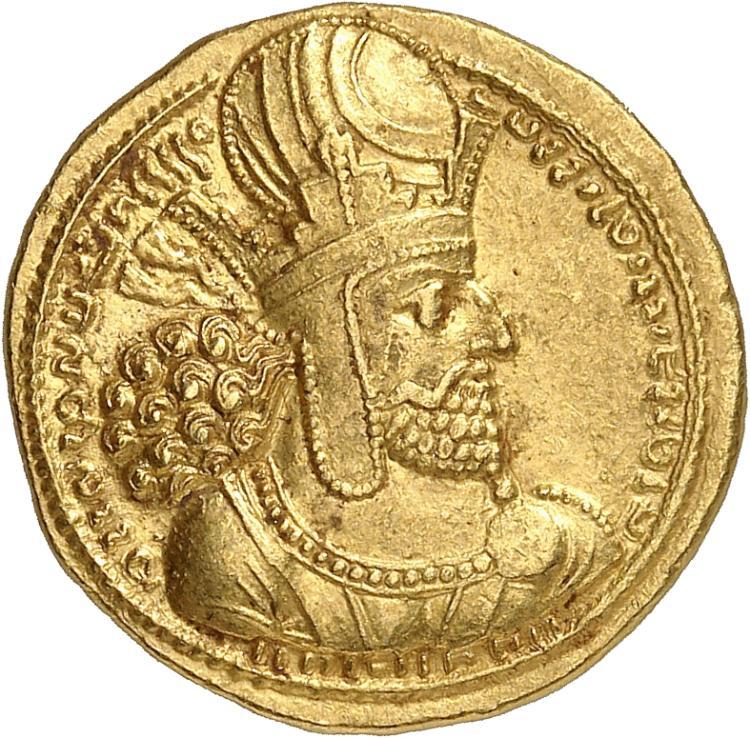 GRÈCE ANTIQUE Royaume Sassanide, Sapor Ier (240-270). Dinar, Ctésiphon.