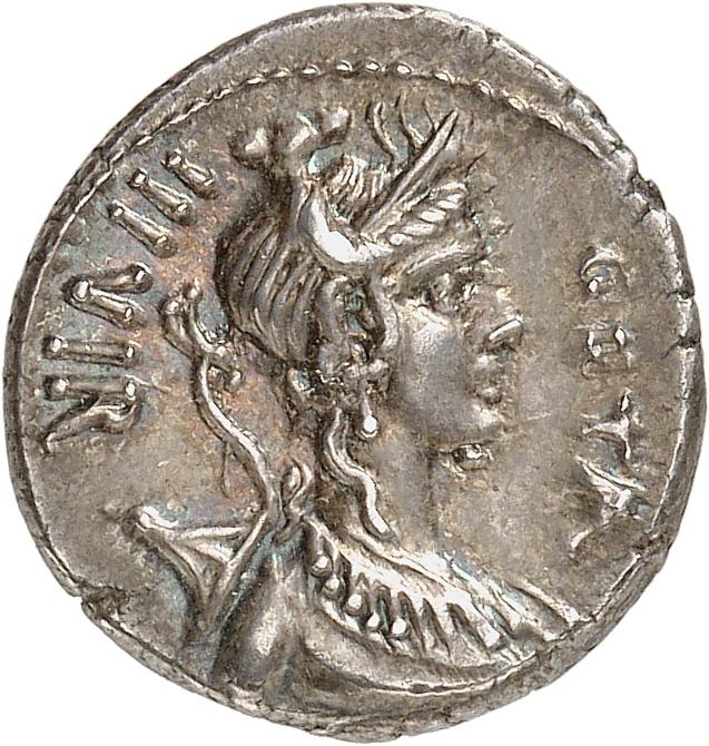 RÉPUBLIQUE ROMAINE C. Hosidius C.f. Geta (68 av. J.C). Denier, Rome.