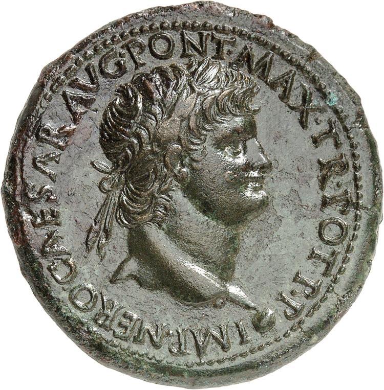EMPIRE ROMAIN Néron (54-68). Sesterce 54-55, Rome.