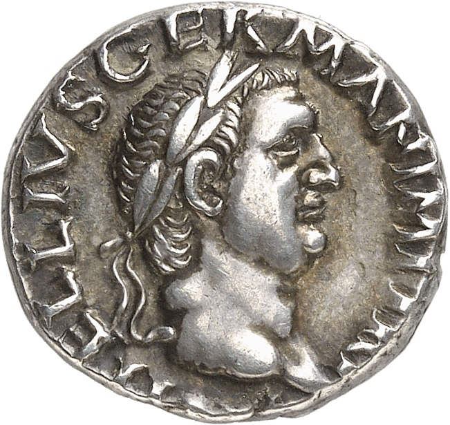EMPIRE ROMAIN Vitellius (69). Denier en argent.