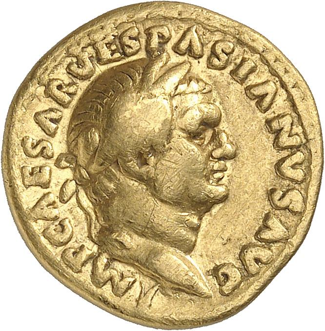 EMPIRE ROMAIN Vespasien (69-79). Aureus 70, Rome.