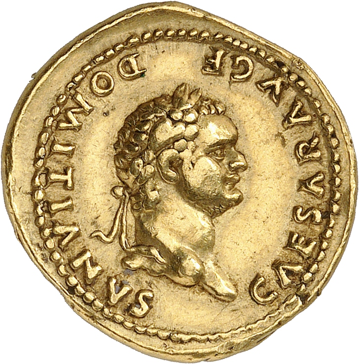 EMPIRE ROMAIN Domitien (81-96). Aureus 74-75, Rome.