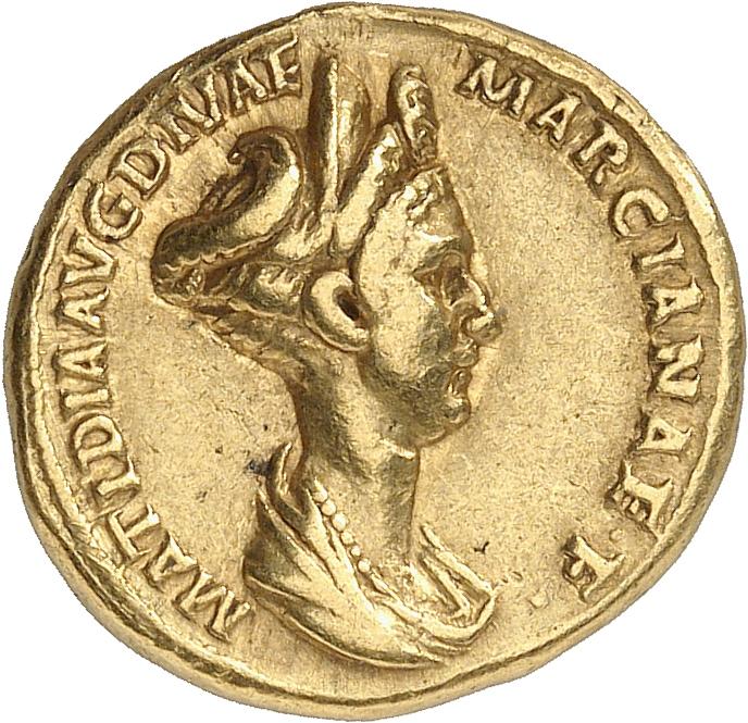 EMPIRE ROMAIN Matidia, nièce de Trajan (98-117). Aureus, Rome.