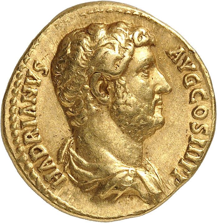 EMPIRE ROMAIN Hadrien (117-138). Aureus 134-138, Rome.