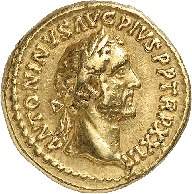 EMPIRE ROMAIN Antonin le Pieux (138-161). Aureus 159-160, Rome.