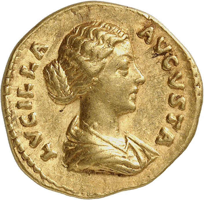 EMPIRE ROMAIN Lucille, femme de Lucius Verus (161-169). Aureus 164-169, Rome.