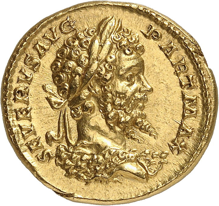 EMPIRE ROMAIN Septime Sévère (193-211). Aureus 201, Rome.
