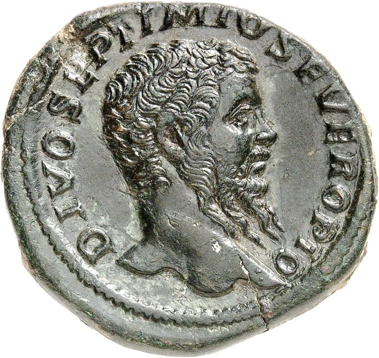 EMPIRE ROMAIN Septime Sévère (193-211). Sesterce 211, Rome.