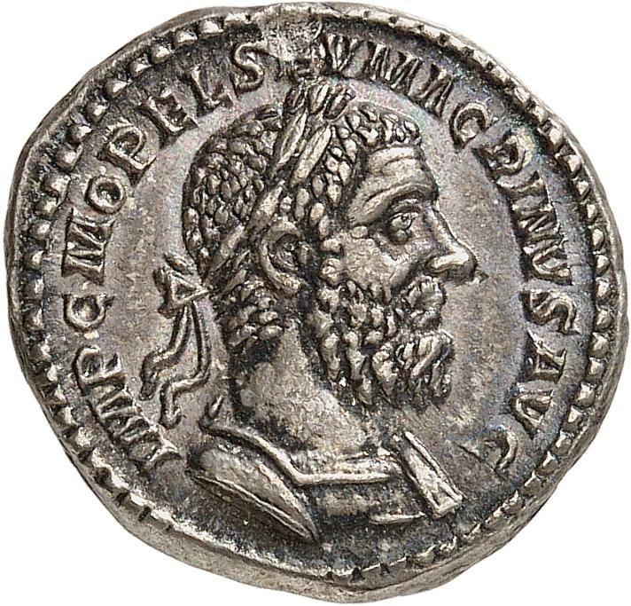 EMPIRE ROMAIN Macrin (217-218). Denier, Rome.