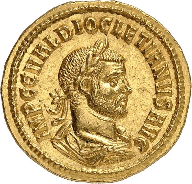 EMPIRE ROMAIN Dioclétien (286-305). Aureus, Cyzique.